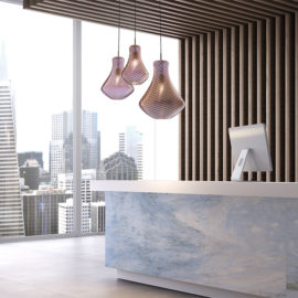 Luc.CanginieTucci.Blown.Glass.made.in.italy.design.suspension.lamp.reception