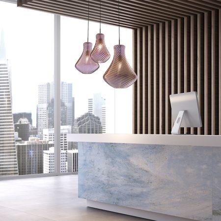 Luc.CanginieTucci.Blown.Glass.made.in.italy.design.suspension.lamp.reception